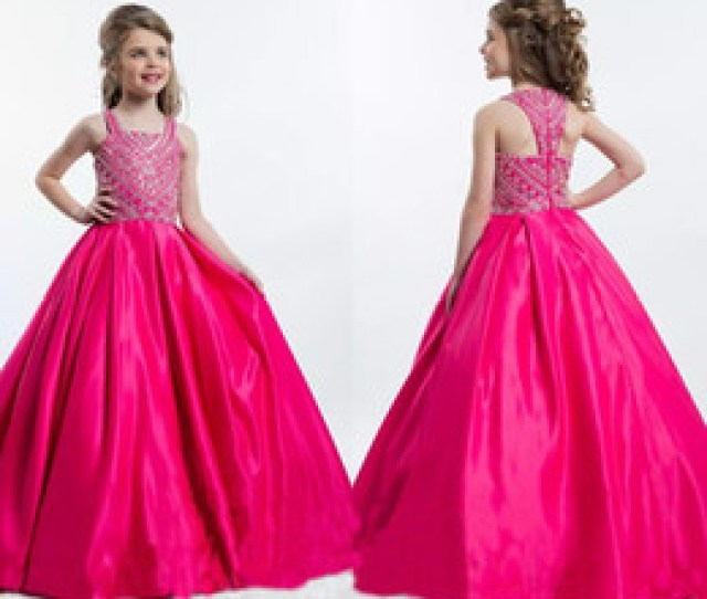 Hot Teens Dresses Online Shopping  Hot Pink Beads Crystal Satin Girl S Pageant Dresses
