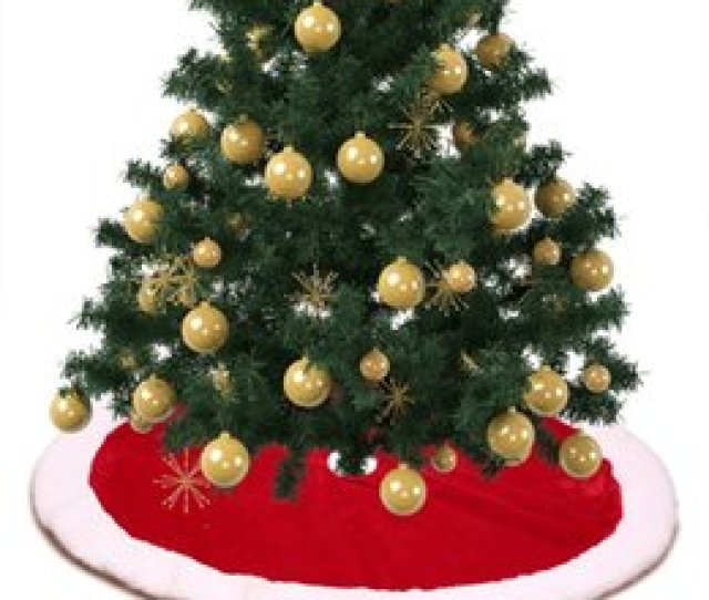 Cm Pcs Lamb Cashmere Christmas Tree Skirts Christmas Decorations For Home Red And White Snowflakes Tree Skirt White Christmas Tree Skirts On Sale