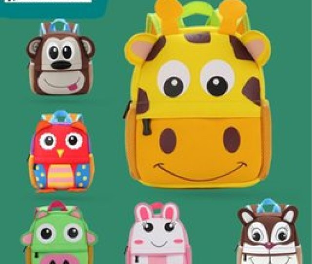 Toddler Backpack Softback High Quality Animal Design Mini Fancy Cute Schoolbag Children Gifts Kindergarten Carton Comfortable Boy Girl Gifts