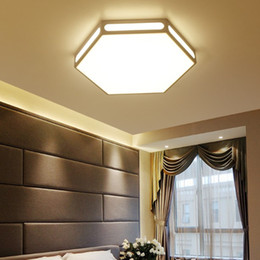 Hexagon Led NZ   Buy New Hexagon Led Online from Best Sellers     Modern white hexagon lamp led ceiling light fixture indoor lighting smart  remote control ceiling lamp for living room bedroom