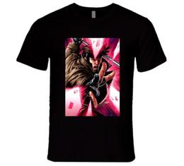 Gambit Superhero X Men Movie Card Camiseta Manga Corta Tallas Grandes Descuento Caliente Nuevo Top Envio Gratis Camiseta