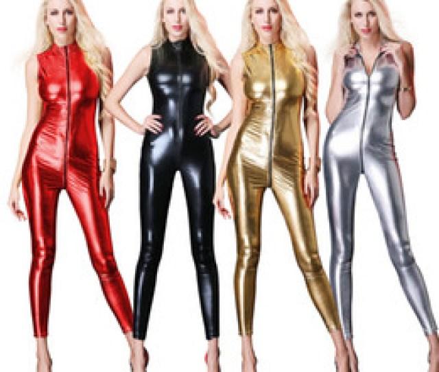 Spandex Erotic Costume Online Shopping New Sexy Sleeveless Long Catsuit Bodysuit Latex Lingerie Babydoll Erotic