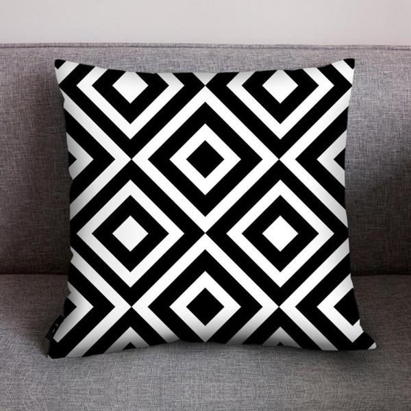 black polyester cushion cover decor