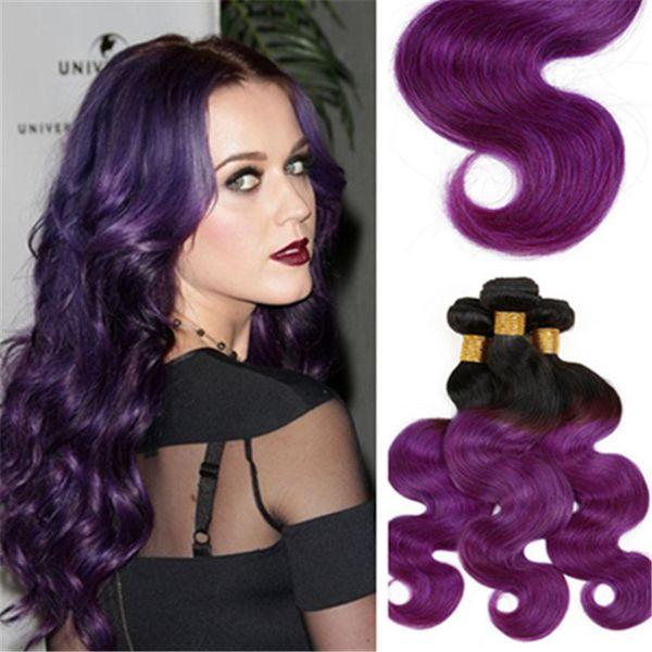 8a Peruvian Ombre Purple Hair Bundles Hair Weaving 1b Purple