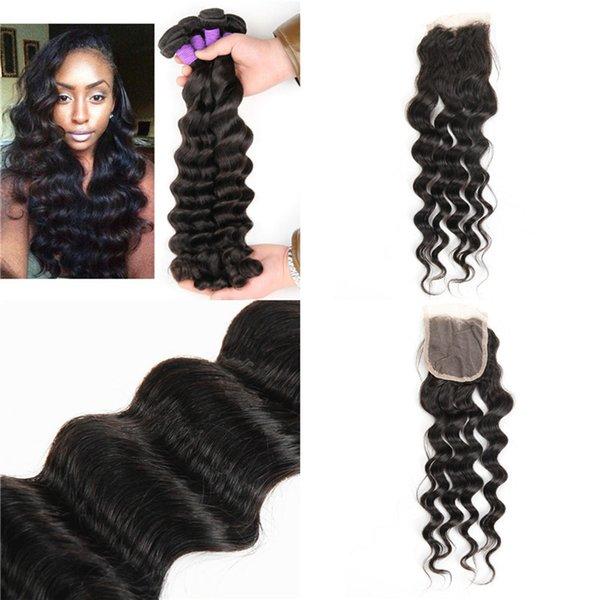 Anemone 2pcs Loose Deep Wave Human Hair Weaves Bundles With