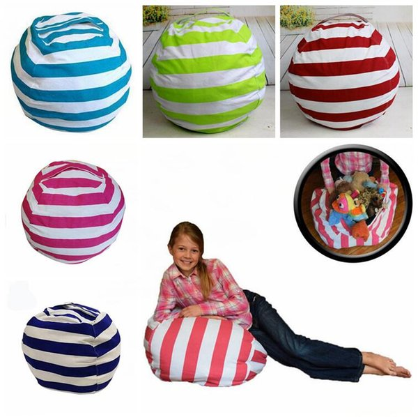 16 inch kids storage bean bags plush toys beanbag chair bedroom stuffed animal room mats portable