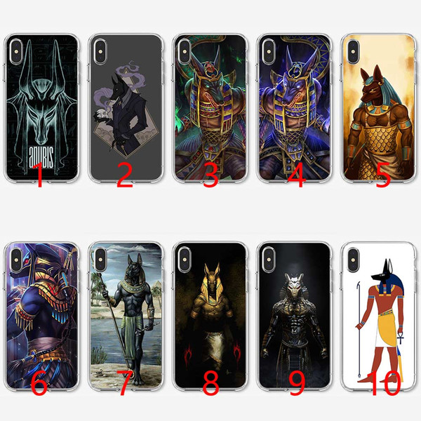 Egypt Anubis Soft Silicone Tpu Phone Case For Iphone 5 5s Se 6 6s 7 8 Plus X Xr Xs Max Cover Cell Phone Cases Covers Cell Phone Case Covers From