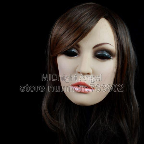 Wholesale Sh 6 Female Mask Cross Dressing Halloween Full Head Mask Realistic Mask Sissy Boy Online With 306 62 Piece On May512s Store Dhgate Com