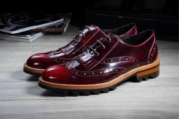 New Arrival Italian Mens Wine Red Dress Shoes Charm ...