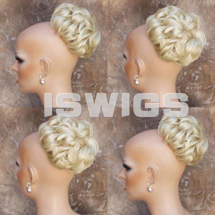 Blonde Bun Hair Pieces