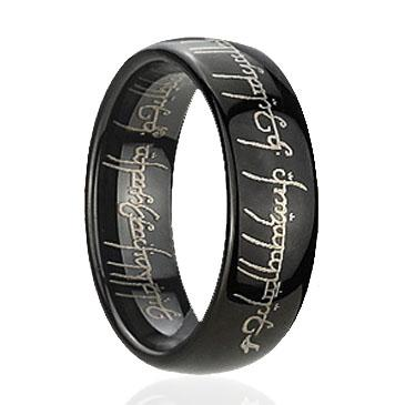 Wedding Bands For Men Dome Black Magic Tungsten Rings