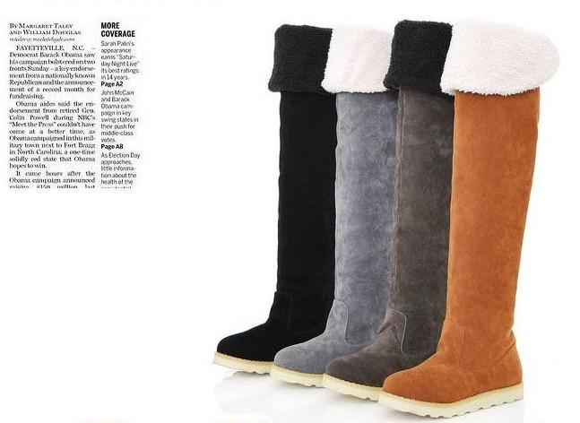 Womens Shoes Over The Knee BootsSuede Flat Boots Long