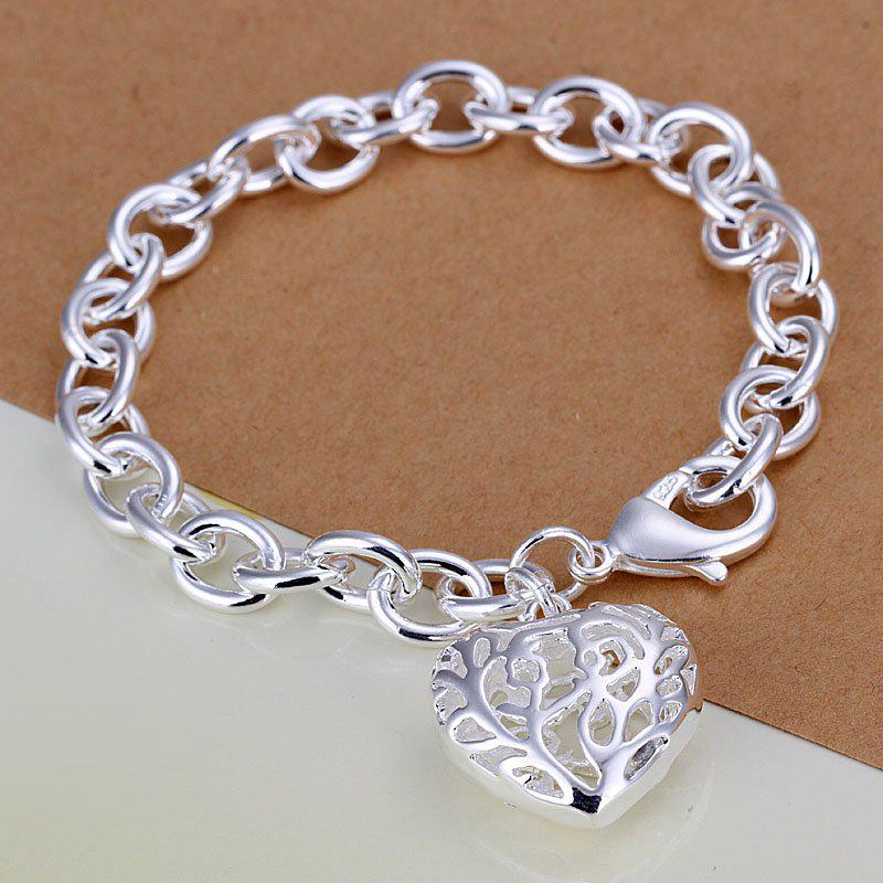 Heart Pendant 925 Sterling Silver Bracelet Can Custom Hand