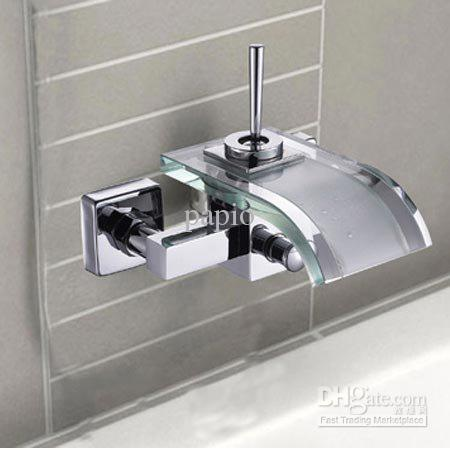 2018 single handle widespread wall mount bathroom vessel sink