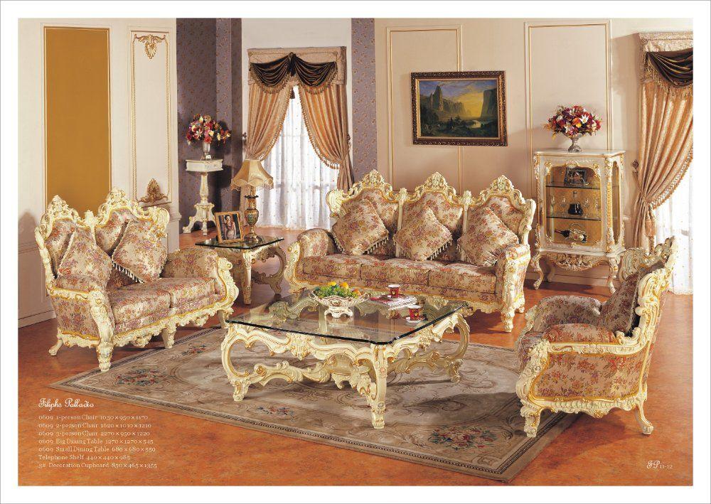 Hot SellingRococo Style Living Room Sofa Set Palace