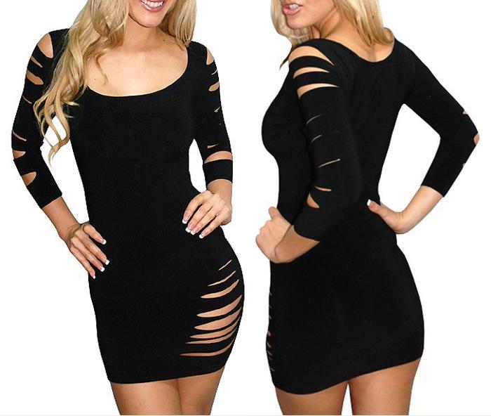 Women Long Sleeve Bandage Dress Club Dresses Lady Sexy ...