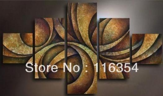 C50335 Free Shipping Hand Painted Wall Oil Art Home Decor Modern Abstract Canvas Painting Set