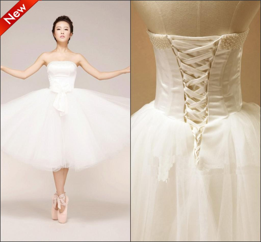 Custom Made Tulle Short Beach Wedding Dresses Ball Gown