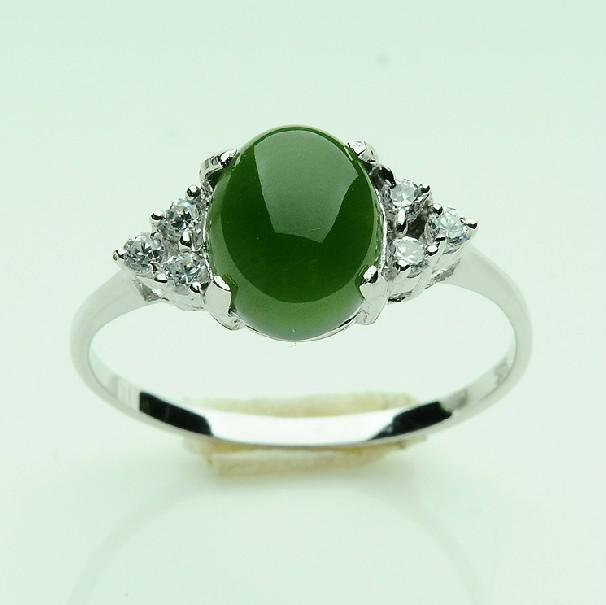 925 Silver And Nephrite Jade Rings For Men And Women Ring