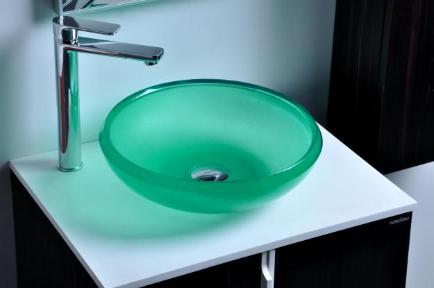 cupc certificate resin round counter top sink colored cloakroom wash