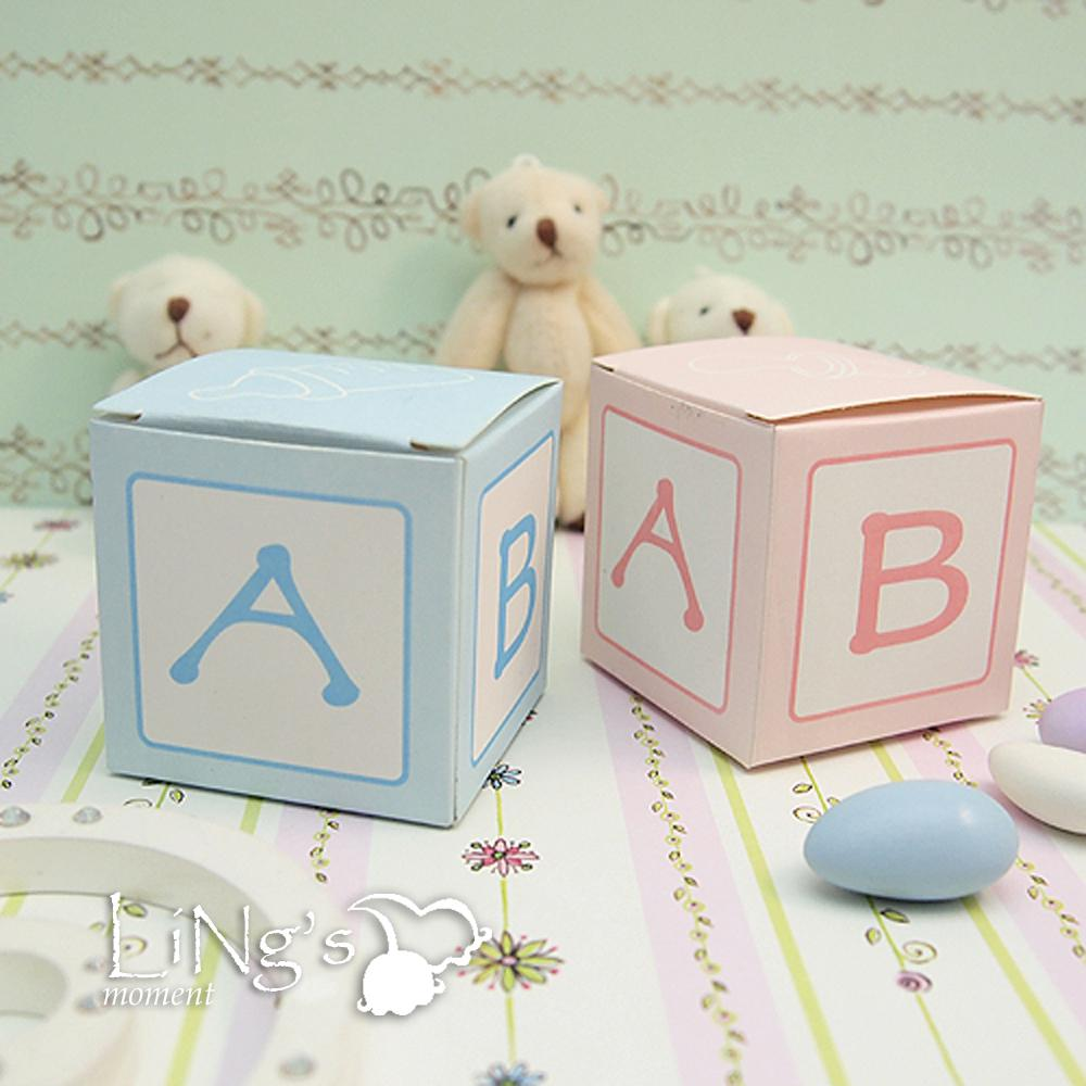 baby block cubic favor box baby shower birthday party candy boxes