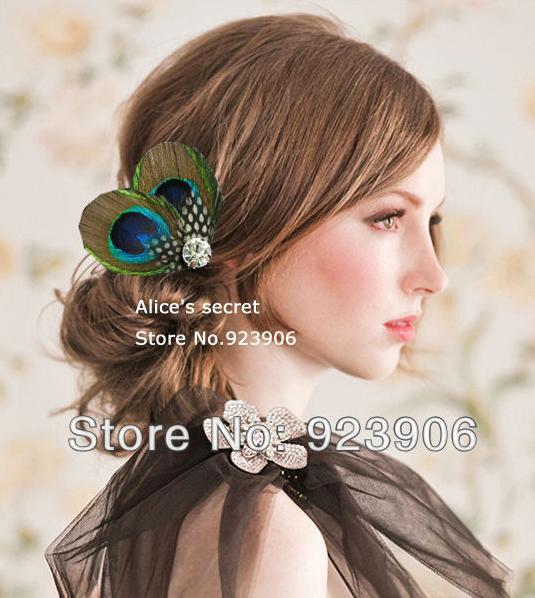 Peacock Feather Bridal Hair Accessories Feather Hair