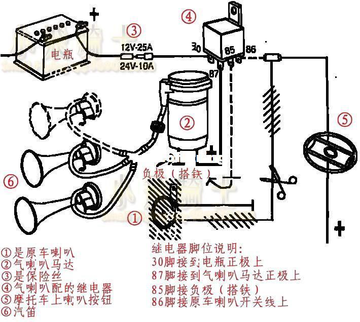 12 volt horn wiring diagram dolgular breathtaking oooga horn wiring diagram gallery best image wire publicscrutiny Gallery