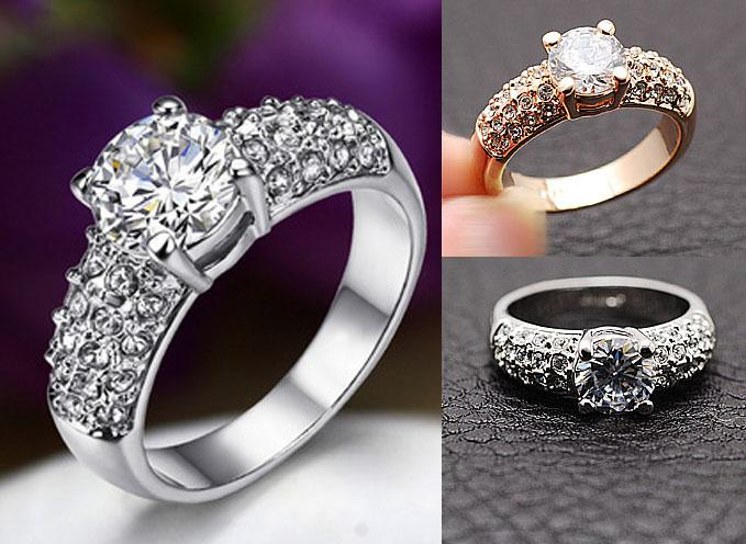 2018 Wedding Rings For Women Jewelry Swarovski Crystal