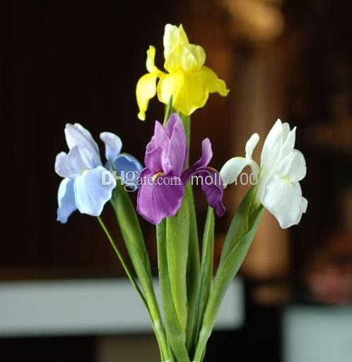 2018 Real Touch Flowers Latex Artificial Iris Multicolors