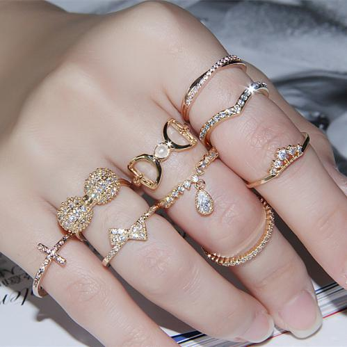 Korean Version Of The Ring Tail Ring Fashion Ring Finger Ring Joint     Korean Version Of The Ring Tail Ring Fashion Ring Finger Ring Joint Diamond  Ladies Ring Imported Korean Jewelry Rings Gold Jewelry Amethyst Rings From  Tsfj