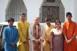 With Chote Guru ji and Ustad Amjad Ali Khan Saheb