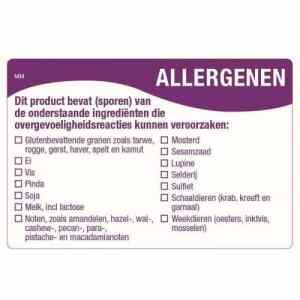Allergenen stickers bestellen | HACCP stickers | Stickerdispensers