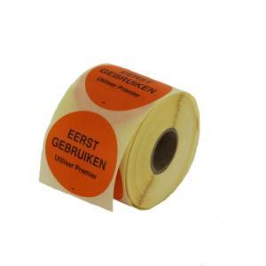 sticker-eerst gebruiken-oranje