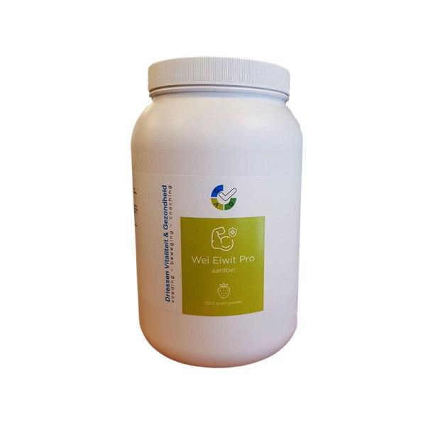 Wei eiwit pro (aardbei) - 1000 gram