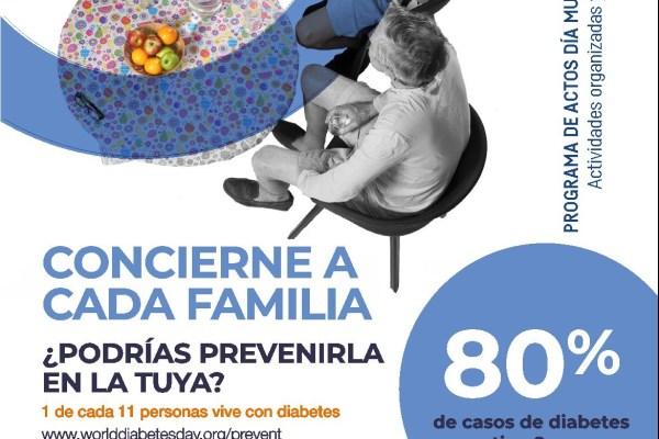 Actos organizados y coorganizados por ADT para el Día Mundial de la Diabetes