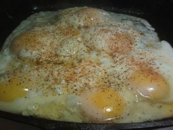 Six Eggs in the Skillet
