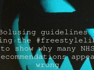 Bolusing guidelines – using the #freestylelibre to show why many NHS recommendations appear wrong