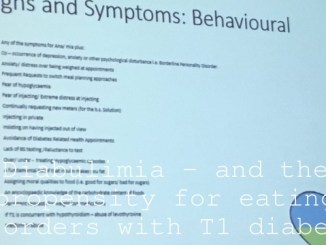 Diabulimia – and the propensity for eating disorders with T1 diabetes