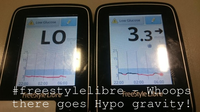 #freestylelibre – Whoops there goes Hypo gravity!