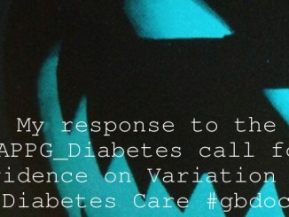My response to the @APPG_Diabetes call for evidence on Variation in Diabetes Care #gbdoc