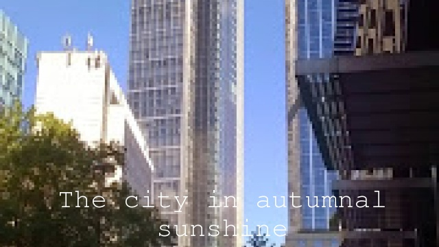 The city in autumnal sunshine