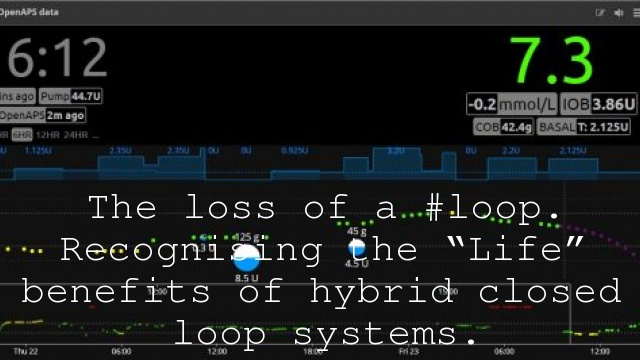 """The loss of a #loop. Recognising the """"Life"""" benefits of hybrid closed loop systems."""