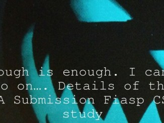 Enough is enough. I can't go on…. Details of the EMA Submission Fiasp CSII study