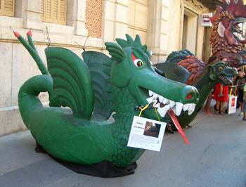 El drac de Moja convidat al 30 aniversari de la fil•loxera
