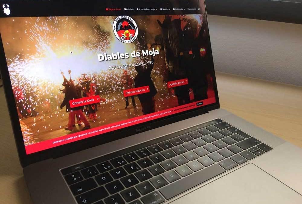 La pàgina web dels Diables de Moja es reactiva per Festa Major