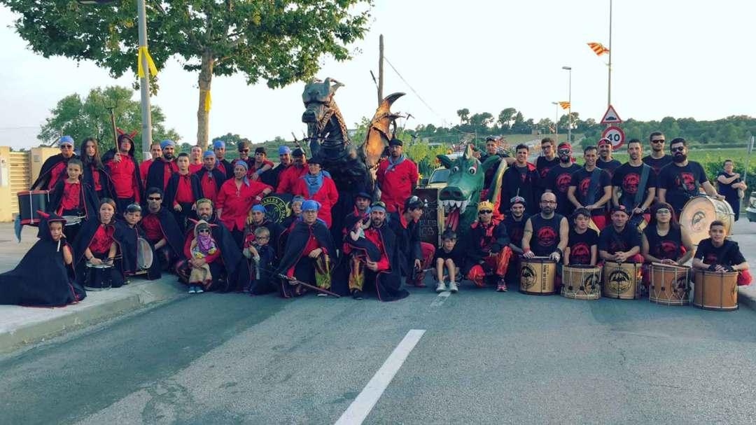 Drac i timbalers de Moja convidats al 30 aniversari del drac de Pacs
