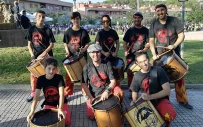 Els timbalers de Moja a la 12a Timbalada d'Olivella 2018