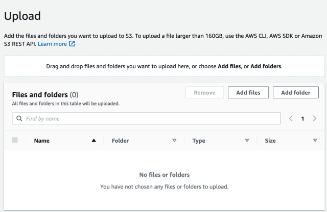 Add files or folder