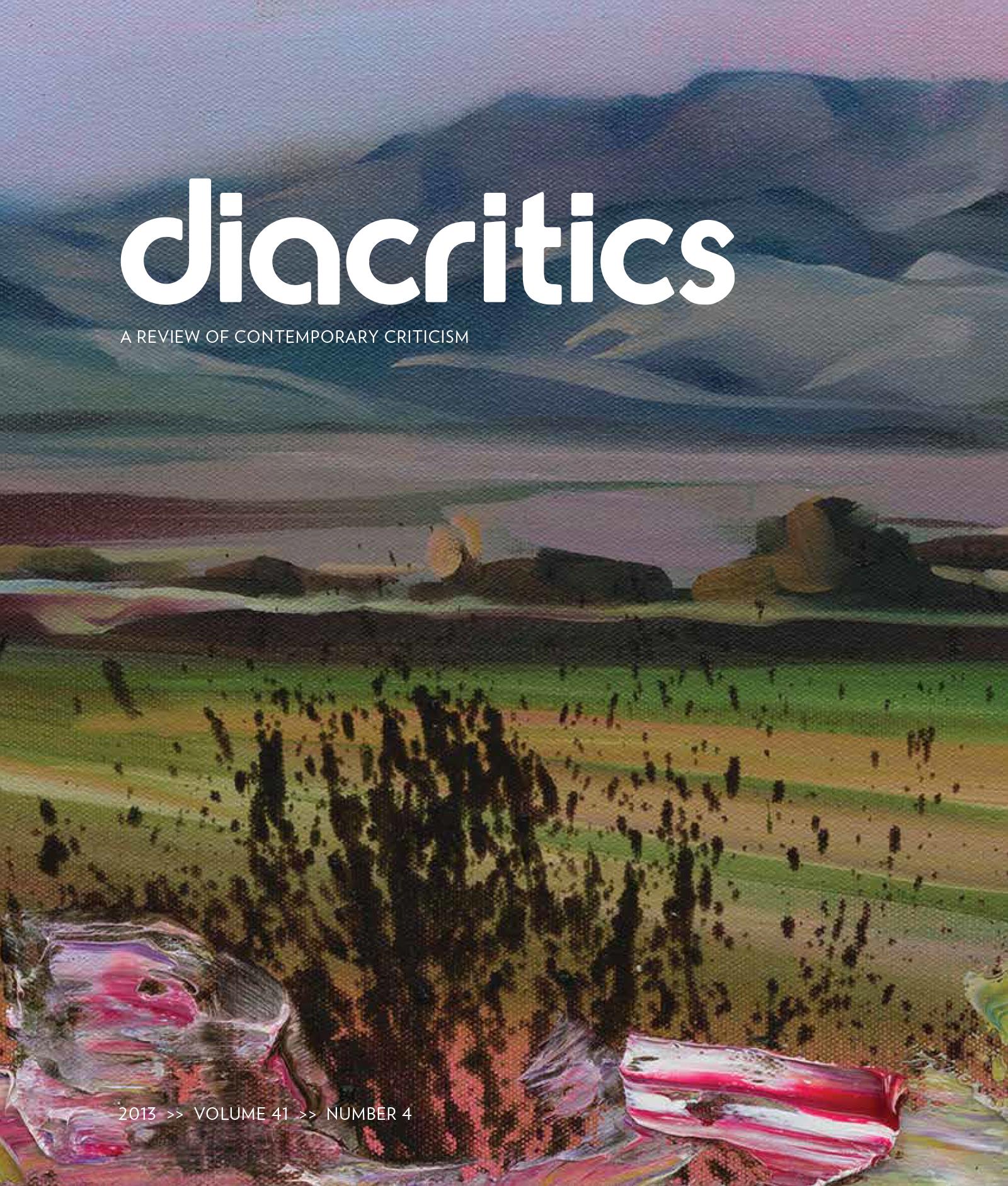 DIACRITICS VOLUME 41 NUMBER 4 2013