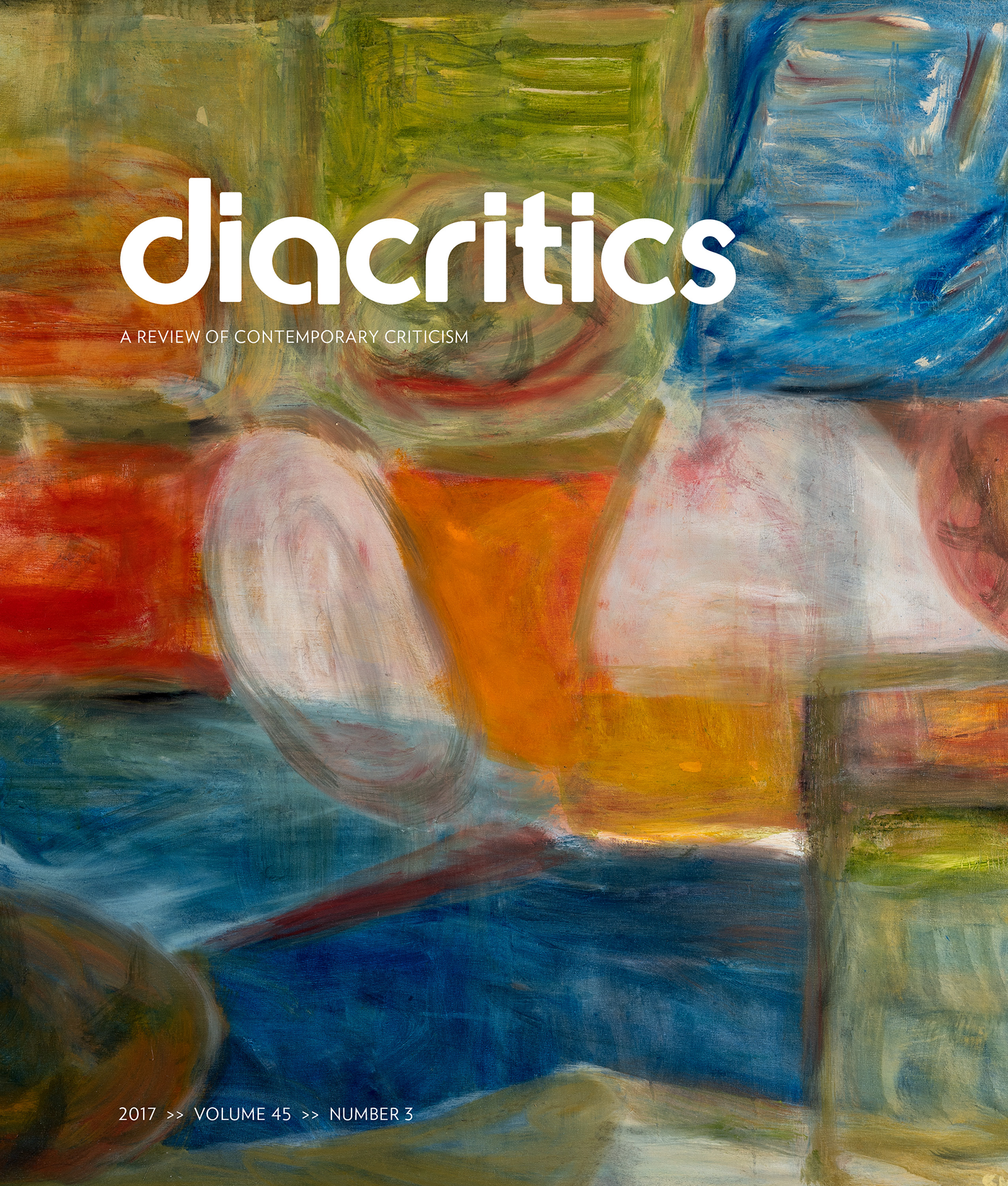 DIACRITICS VOLUME 45 NUMBER 3 2017
